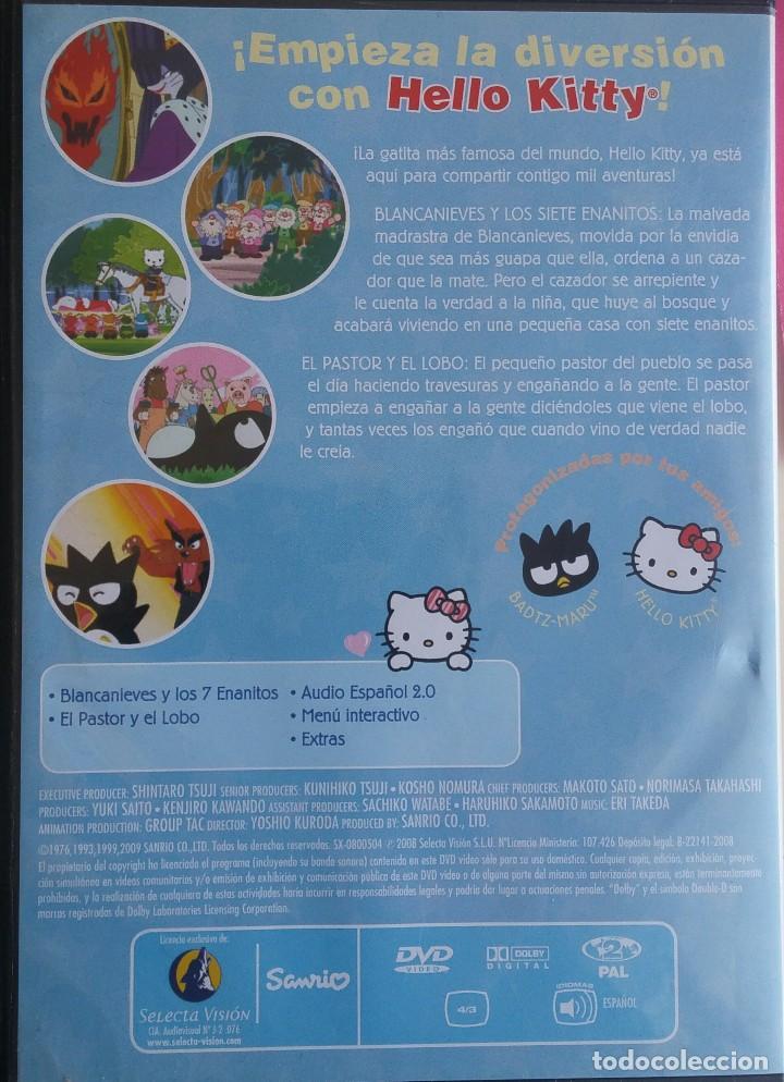 Cine: Hello Kity. 2 DVDs: Hello Kittys Paradise /Hello Kitty y sus amigos: Blancanieves y los 7 enanitos - Foto 3 - 163788154