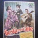 Cine: FIESTA EN EL AIRE, CINE CAPITOL, 1951. Lote 163837490