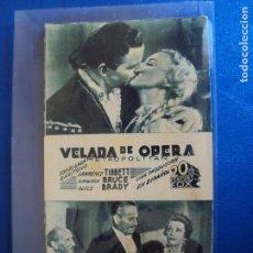 Cine: (PG-190474)PROGRAMA DE CINE - VELADA DE OPERA - CINE NOU - AÑO 1936. Lote 163877330
