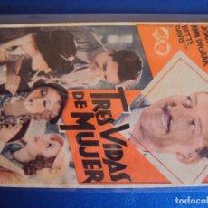 Cine: (PG-190512)PROGRAMA DE CINE - TRES VIDAS DE MUJER - TEATRO GUIMERA PICAROL CINEMA - AÑO 1934. Lote 163913246