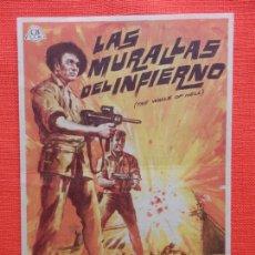 Cine: LAS MURALLAS DEL INFIERNO, IMPECABLE SENCILLO, JOCK MAHONEY, C/PUBLI TEATRO CIRCO. Lote 163952438