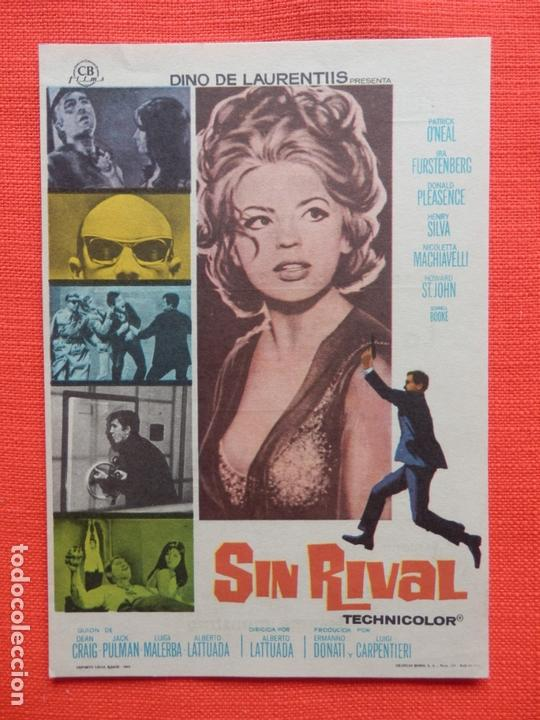 SIN RIVAL, IMPECABLE SENCILLO ORIGINAL,IRA FRUNSTENBERG, C/PUBLI CINE VERDI 1970 (Cine - Folletos de Mano - Acción)