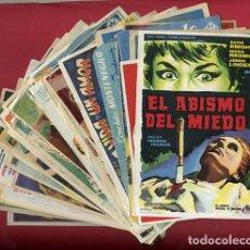 Cine: LOTE DE 120 PROGRAMAS DE CINE ANTIGUOS , SIN CINE EN EL REVERSO , VER FOTOS , ORIGINALES , L42. Lote 163957302