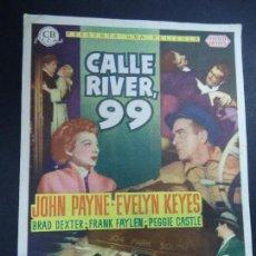 Cine: CALLE RIVER, 99. JOHN PAYNE, EVELYN KEYES, BRAD DEXTER, FRANK FAYLEN CON FECHA LUNES 1 DE FEBRERO DE. Lote 163965426