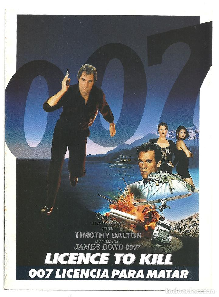 G8959Q 007 LICENCIA PARA MATAR PROGRAMA DESPLEGABLE UIP JAMES BOND TIMOTHY DALTON (Cine - Folletos de Mano - Acción)