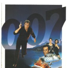 Cine: G8959Q 007 LICENCIA PARA MATAR PROGRAMA DESPLEGABLE UIP JAMES BOND TIMOTHY DALTON. Lote 163973558