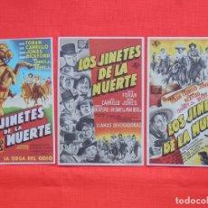 Cine: LOS JINETES DE LA MUERTE, 3 IMPECABLES SENCILLOS, DICK FORAN, C/PUBLI LOS 3 CINE BERGADAN 1947. Lote 163973746