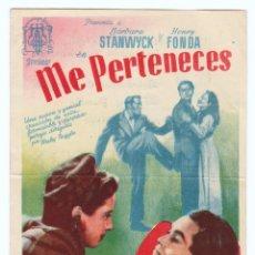 Cine: PROGRAMA AÑO 1945. TEATRO PRINCIPAL ALCOY. Lote 163996546