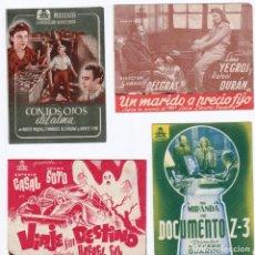 Cine: CIFESA 4 PROGRAMAS DOBLES AÑOS 40. CINES ALCOY. Lote 163997730