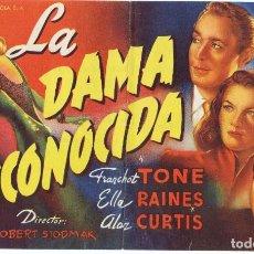 Cine: PROGRAMA GRAN FORMATO AÑO 1945. TEATRO CALDERÓN. ALCOY. Lote 163998226