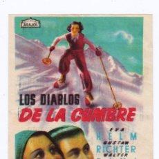 Cine: PROGRAMA PEQUEÑO FORMATO AÑOS 40. CINE CAPITOL ALCOY. PERFECTO ESTADO.. Lote 163999626