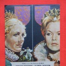 Cine: MARIA REINA DE ESCOCIA, IMPECABLE SENCILLO ORIGINAL, GLENDA JACKSON, SIN PUBLICIDAD. Lote 164193614