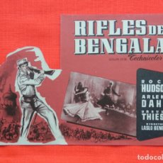 Cine: RIFLES DE BENGALA, IMPECABLE DOBLE TROQUELADO ORIGINAL, ROCK HUDSON, SIN PUBLICIDAD. Lote 164204898