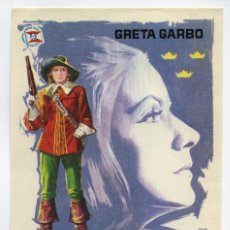 Cine: LA REINA CRISTINA DE SUECIA, CON GRETA GARBO.. Lote 171710972