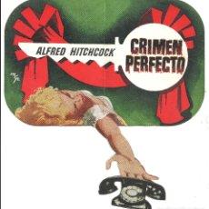 Cine: PTEB 058 CRIMEN PERFECTO PROGRAMA DOBLE TROQUELADO DESPLEGABLE ALFRED HITCHCOCK GRACE KELLY. Lote 164597546