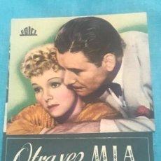 Cine: PROGRAMA DOBLE - OTRA VEZ MÍA - RONALD COLMAN, ANNA LEE - 1941 - CON SELLO SIN PUBLICIDAD.. Lote 164600850