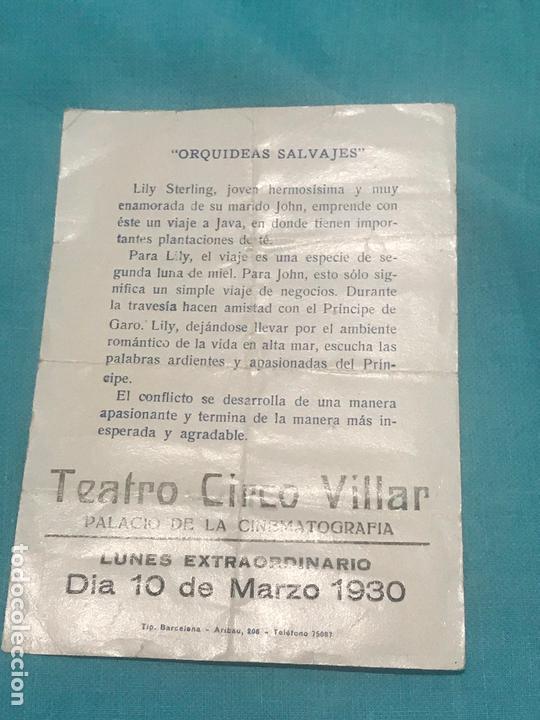 Cine: ORQUÍDEAS SALVAJES, GRETA GARBO, LEWIS STONE, PROGRAMA METRO 1929 - Foto 2 - 164601370
