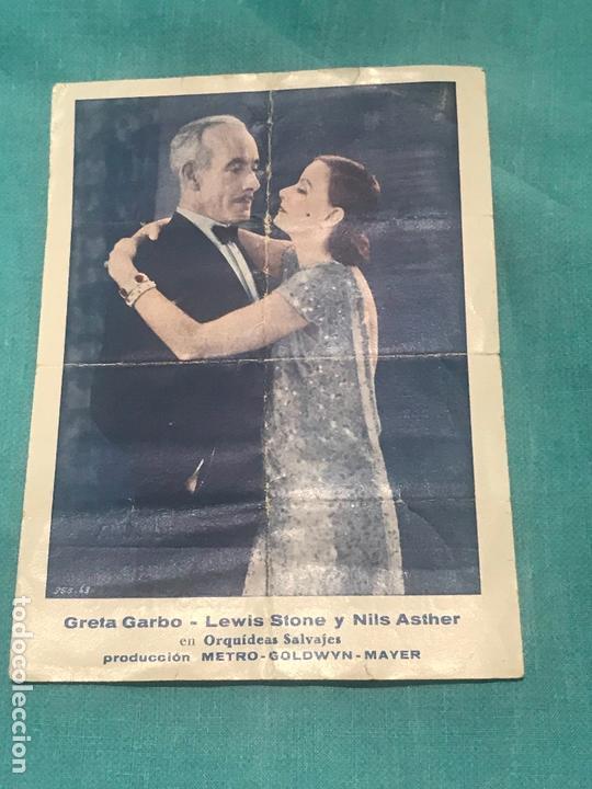 ORQUÍDEAS SALVAJES, GRETA GARBO, LEWIS STONE, PROGRAMA METRO 1929 (Cine - Folletos de Mano - Comedia)
