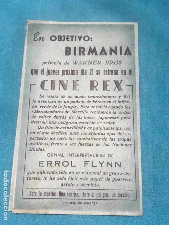 Cine: PROGRAMA DE MANO DOBLE. OBJETIVO BIRMANIA , CON PUBLICIDAD . - Foto 3 - 164602254