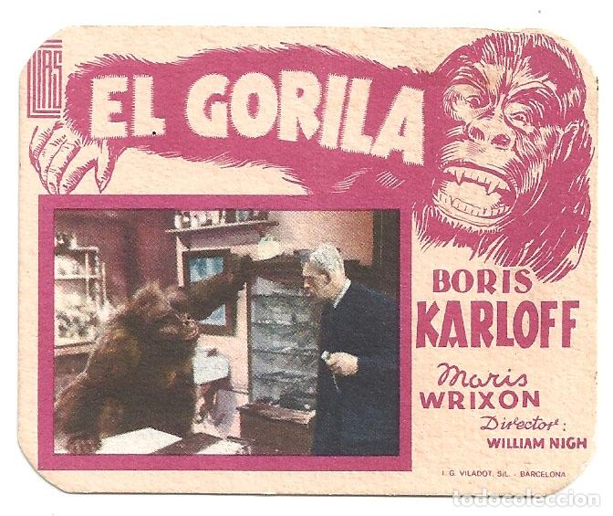 PTEB 059 EL GORILA PROGRAMA TROQUELADO ELIAS BORIS KARLOFF TERROR (Cine - Folletos de Mano - Terror)
