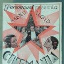 Cine: CINEMANIA - PROGRAMA CINE DOBLE AÑO 1934. Lote 164622062