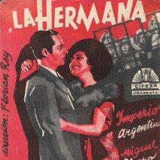 Cine: PROGRAMA DE CINE CARTÓN - LA HERMANA SAN SULPICIO - IMPERIO ARGENTINA, MIGUEL LIGERO - CIFESA 1935. Lote 164680010