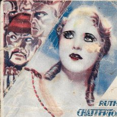 Cine: PROGRAMA DE CINE - BARRIO CHINO - RUTH CHATTERTON, DONALD COOK - WB - 1932 - SIN PUBLICIDAD.. Lote 164680894