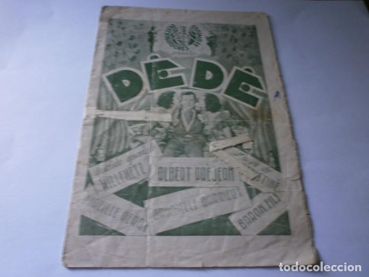 PROGRAMA DOBLE - DEDÉ - ALBERT PREJEAN, DANNIELLE DARRIEUX - IDEAL CINEMA - 1935. (Cine - Folletos de Mano - Comedia)