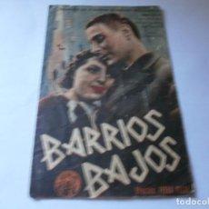 Cine: PROGRAMA DOBLE - BARRIOS BAJOS - JOSÉ TELMO, ROSITA DE CABO - SIE FILMS - MONUMENTAL Y CENTRAL 1937. Lote 164685282