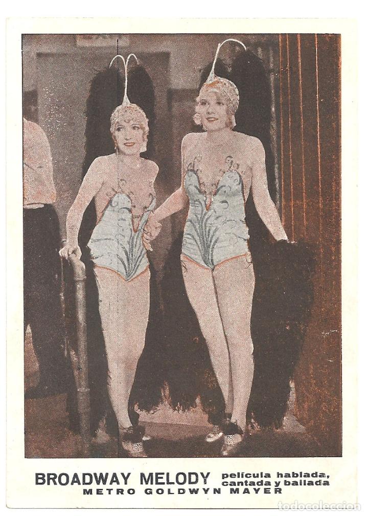 PTEB 058 BROADWAY MELODY / LA MELODIA DE BROADWAY PROGRAMA TARJETA MGM ANITA PAGE BESSIE LOVE (Cine - Folletos de Mano - Musicales)