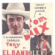 Cine: PTEB 060 EL BANDOLERO DE TEXAS PROGRAMA DOBLE UNIVERSAL TOM MIX LUCILLE POWERS. Lote 164694326