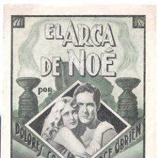 Cine: PTEB 060 EL ARCA DE NOE PROGRAMA DOBLE DIANA DOLORES COSTELLO MYRNA LOY GEORGE O'BRIEN JOHN WAYNE. Lote 164695326