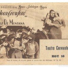 Cine: PTEB 060 LUZ DE MONTANA PROGRAMA DOBLE MGM JOAN CRAWFORD JOHNNY MACK BROWN CONCURSO MGM. Lote 164717250