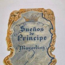 Cine: SUEÑOS DE PRINCIPE (MAYERLING). PROGRAMA DE MANO TROQUELADO DESPLEGABLE.. Lote 164769070
