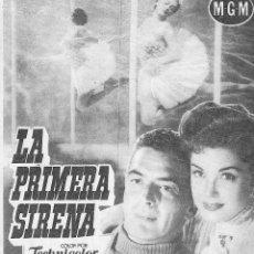 Cinema - PROGRAMA DOBLE - LA PRIMERA SIRENA - ESTHER WILLIAMS, VICTOR MATURE - MGM - GRAN ALBÉNIZ - 1952. - 164778374