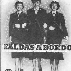 Foglietti di film di film antichi di cinema: PROGRAMA DOBLE - FALDAS A BORDO - ESTHER WILLIAMS - MGM - CINE AVENIDA (BARCELONA) - 1952.. Lote 164780950