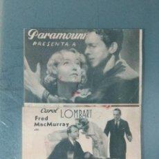 Cine: CANDIDATA A MILLONARIA - 1937 - PROGRAMA DE MANO TRIPLE (DESPLEGABLE). Lote 164845154