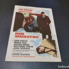 Cine: PROGRAMA DE MANO ORIG - RED SINIESTRA - SIN CINE. Lote 164861342