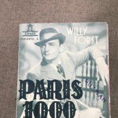 Cine: PARIS 1900 - OLGA TSCHECHOWA, ILSE WERNER - CON PUBLICIDAD. Lote 164864850