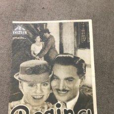 Cine: ROGRAMA REGINA - LUISE ULLRICH - DOBLE - AÑO 1935 SIN PUBLI. Lote 164891314
