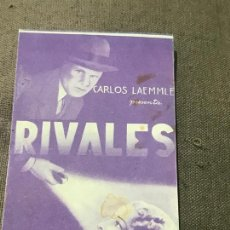 Cine: PROGRAMA DOBLE SIN PUBLICIDAD. RIVALES. CHARLES BICKFORD. Lote 164893030