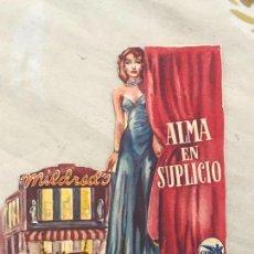 Cine: PROGRAMA DE CINE. S/P. ALMA EN SUPLICIO. . Lote 164918782