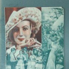 Cine: POR UNOS OJOS NEGROS - 1936 - PROGRAMA DOBLE DE MANO.. Lote 164939598