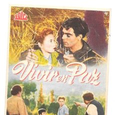 Cine: V IVIR EN PAZ CP. Lote 164941882