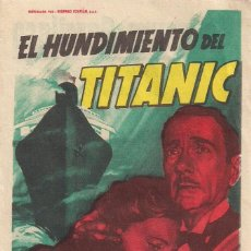 Cine: EL HUNDIMIENTO DEL TITANIC CP. Lote 164943326