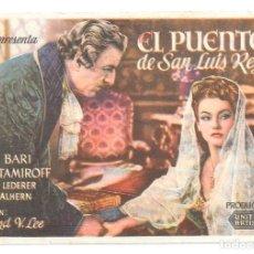 Cine: EL PUENTE DE SAN LUIW CP. Lote 164944838