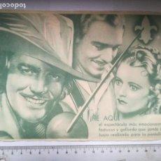 Cine: PROGRAMA DOBLE POR LA DAMA Y EL HONOR PUBLICIDAD CINE NUEVO (27P). Lote 164913454