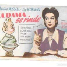 Cine: LA DAMA SE RINDE CP. Lote 165014258