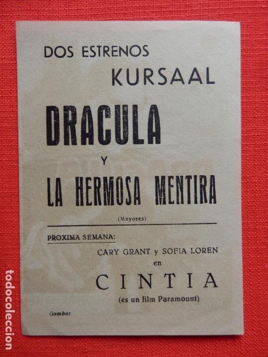 Cine: dracula, impecable sencillo, peter cushing, con publicidad kursaal - Foto 2 - 165016330