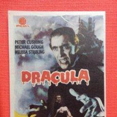 Cine: DRACULA, IMPECABLE SENCILLO, PETER CUSHING, CON PUBLICIDAD KURSAAL. Lote 165016330